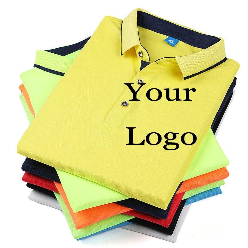 34deaa45 Customized Polos Heat Transfered Print Your Own Design Unisex Camisas Polo  Shirt Custom Logos Photo Company