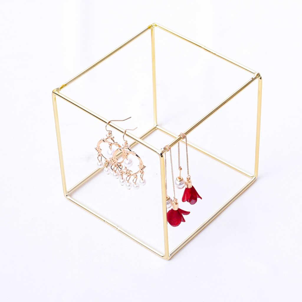 Mode Ohrringe Display Stand Regal Halskette Platz Schmuck Schmuck Zeige Display Rack Eisen Stehen Veranstalter Halter