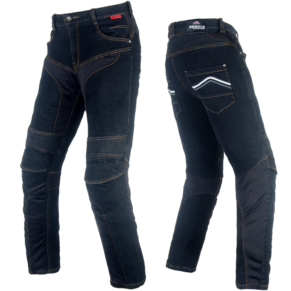 BENKIA Men Motorcycle Racing Denim Pants Protective Moto Jeans Pantalon Motocross Pants jeans men 2016 plus size blue denim skinny jeans men stretch jeans famous brand trousers loose feet pants long jeans for men p10