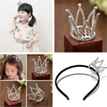 Children's Hair Accessories Rhinestone Crown Jewelry, High-Quality Three-Dimensional Crown Shiny Hair Bands