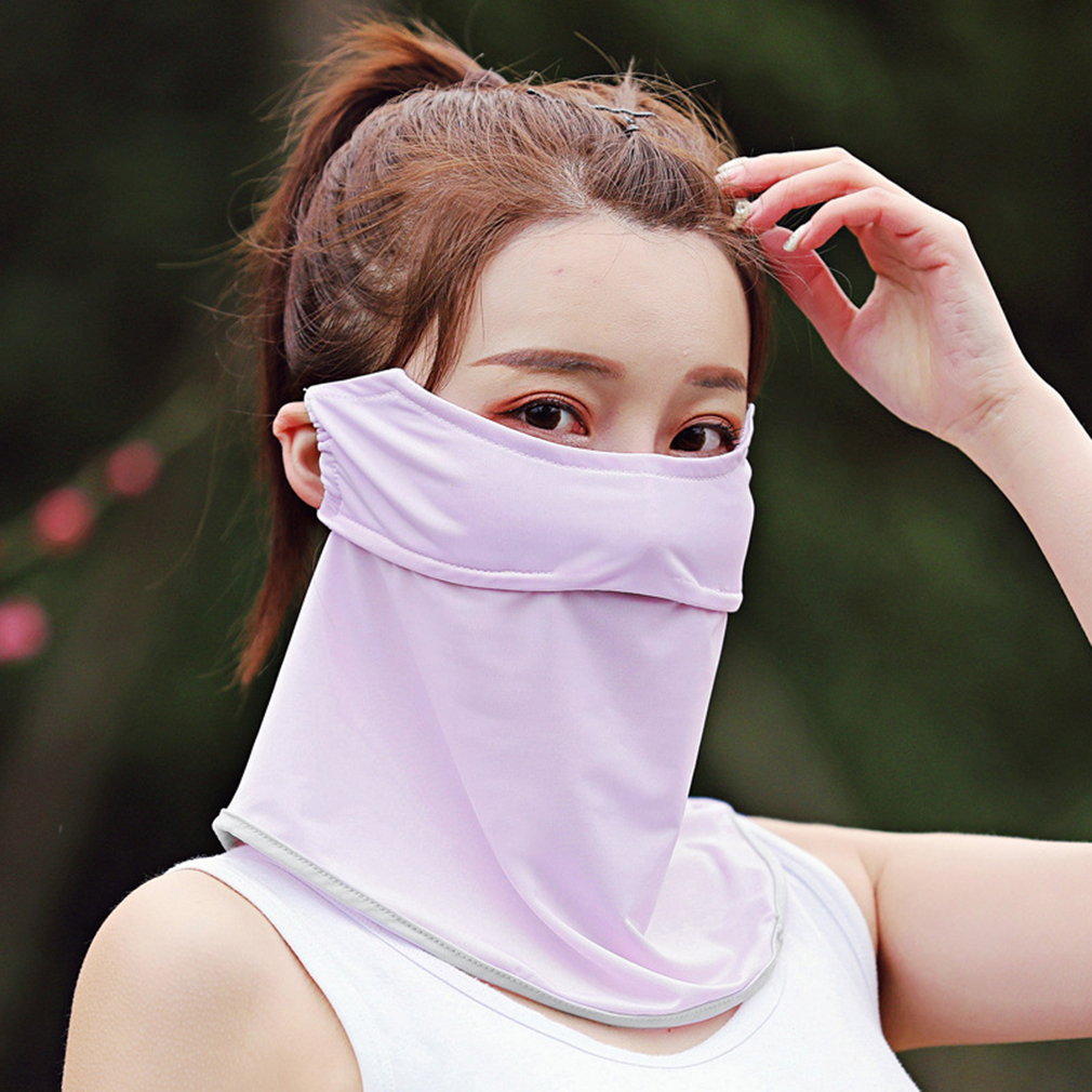 Sunscreen Mask Summer Female Leak Nose Breathable Glasses Anti Fog Women Outdoor Thin Section Sunshade Mask Face Neck Protector