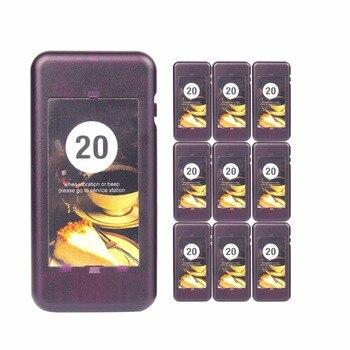 10 pcs Appel Coaster Pager Récepteur pour Restaurant TIVDIO Sans Fil de Pagination Système de File D'attente 433 mhz Restaurants Équipements F4427A