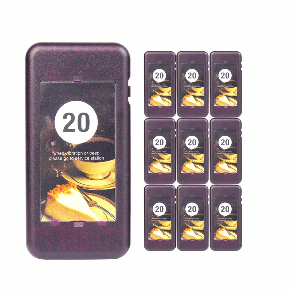 10 pcs Call Coaster Pager Receiver for Restaurant TIVDIO Wireless Paging Queuing System 433MHz Restaurants Equipments F4427A tivdio wireless restaurant pager guest paging queuing system 1 transmitter 20 chargeable pagers restaurants equipments f9401a