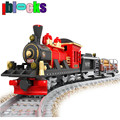 IBLOCKS Assemblage Track Old-Fashioned Train A3 Blocks Models & Building Toy Enlighten Bricks Educational Toys For Children