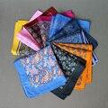 Mantieqingway Paisley Pañuelos de Bolsillo Cuadrado para el Banquete de Boda de Los Hombres Traje de Negocios de Moda Grandes Pañuelos de Poliéster 34*34 CM