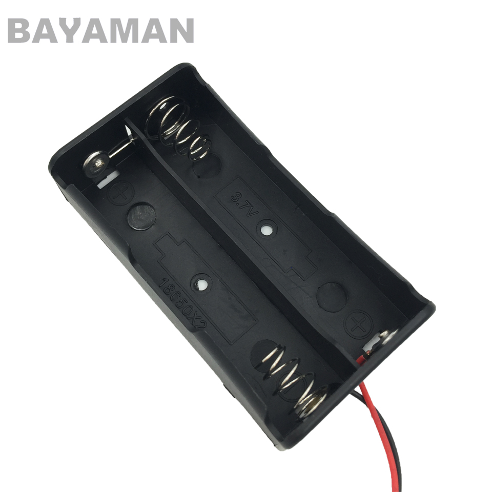 5pcs 18650 Battery Storage Box 1s 2s 3s 4s Black Plastic Case with Wire Lead Pin