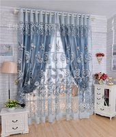2016 New Curtains For Dining Living Bedroom Room 1pc Curtain 1pc Tulle Light Hollow Carved Burnt
