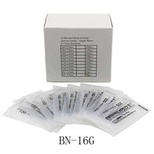 16 Gauge 100PC Piercing Needles Sterile Disposable Body Piercing Needles 16G For Ear Nose Navel Nipple for Piercing Supplies