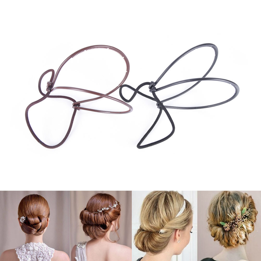 1pc Hair Styling Tool Plastic Loop Styling Tools Black Topsy Pony Topsy Tail Clip Hair Braid Maker Styling Tool Fashion Salon image
