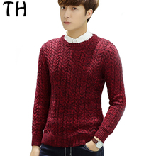 Spring Long Sleeve Casual Knitwear Men O Neck Long Sleeve Terry Pullover Sweater Pull Homme #161726