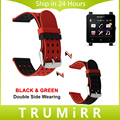 24 мм Силиконовой Резины Ремешок Для Часов Двухсторонняя Носить Ремень для Sony Smartwatch 2 SW2 Часы Наручные Ремень Браслет Черный Синий красный