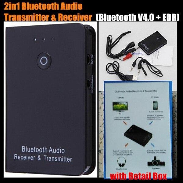 10 P! 2-в-1 Двойного назначения Мини 3.5 мм Bluetooth V4.0 Аудио Музыка Передатчик и Приемник A2DP Стерео Dongle адаптер для ставку ТВ Mp3 Mp4 ПК