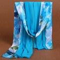 Alta qualidade Mulheres chiffon cachecol xale mulheres lenços de moda xale de seda mulheres cachecol longo fino shawl-b156 sillk