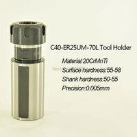 1 Pcs ER25 Streight Shank High Precision 0 005mm CNC Tool Holder Millingtools For Milling Machine
