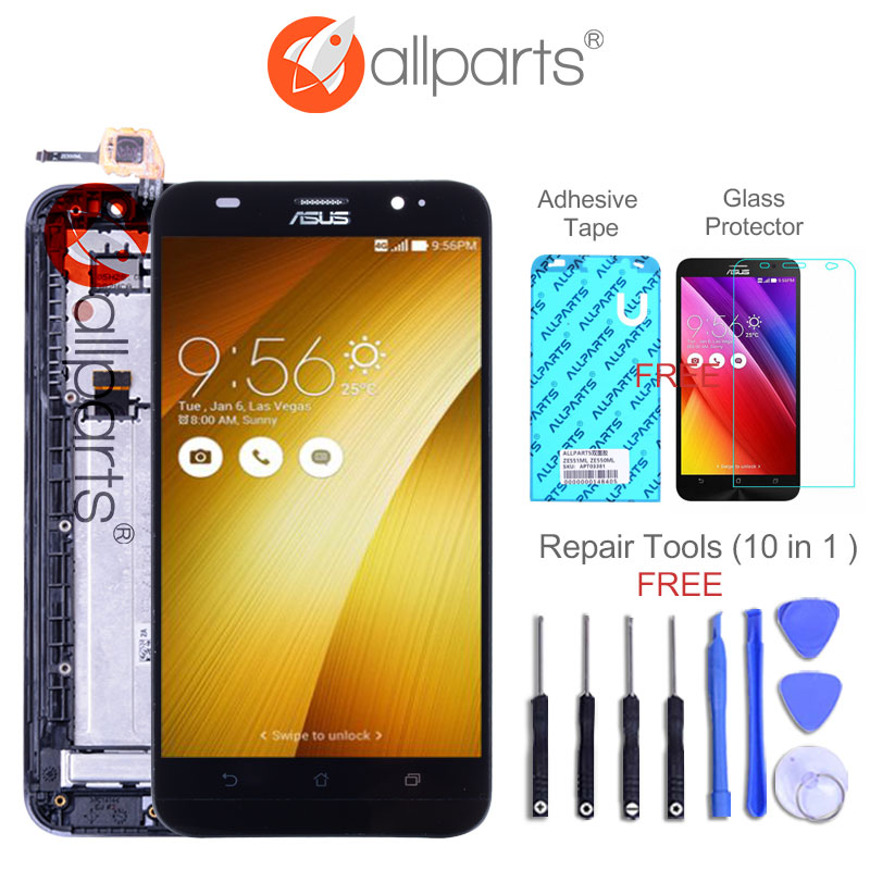 Original 5.5'' LCD For ASUS Zenfone 2 ZE551ML Display LCD Touch Screen Digitizer ZE551ML LCD Replacement Z00AD