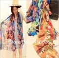 Envío gratis tamaño grande 160 X 70 CM gasa moda para coloridas bufandas Pashmina mantón de la señora de wraps 3 colores