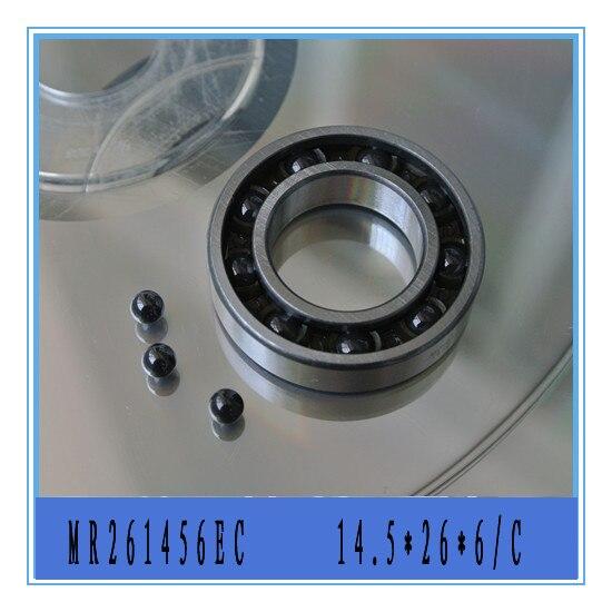 5 pieces 14.5X26X6 MR261456EC Ceramic ABEC-5 T46 Nylon Retainer Rear Engine Bearing for Rc Plane engine pro t46