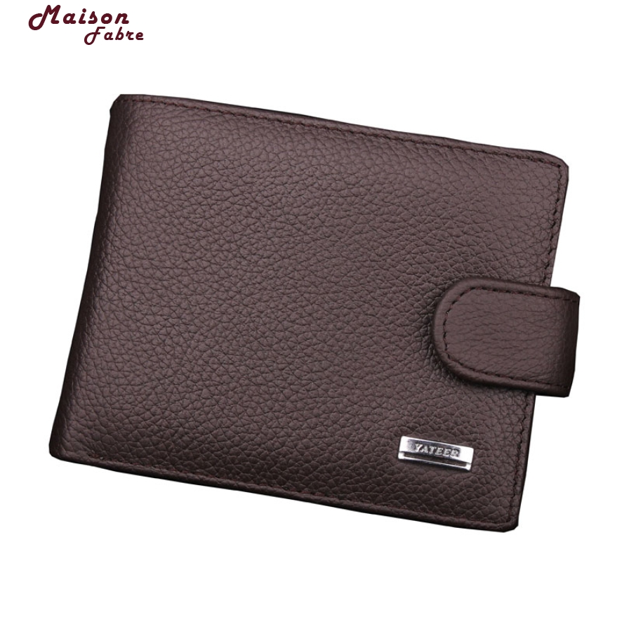 New Fashion Men Wallets Brand Leather Wallet Hasp Design Wallets With Coin Pocket Purse Card Holder Men Carteira Maison Fabre casual weaving design card holder handbag hasp wallet for women