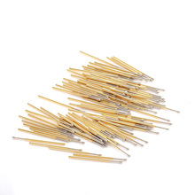 P100-E2 Hot Sale Metal Probe 100pcs Phosphor Bronze  Cone Spring Length 33.35mm Switch Test Tool Gold Thimble Home