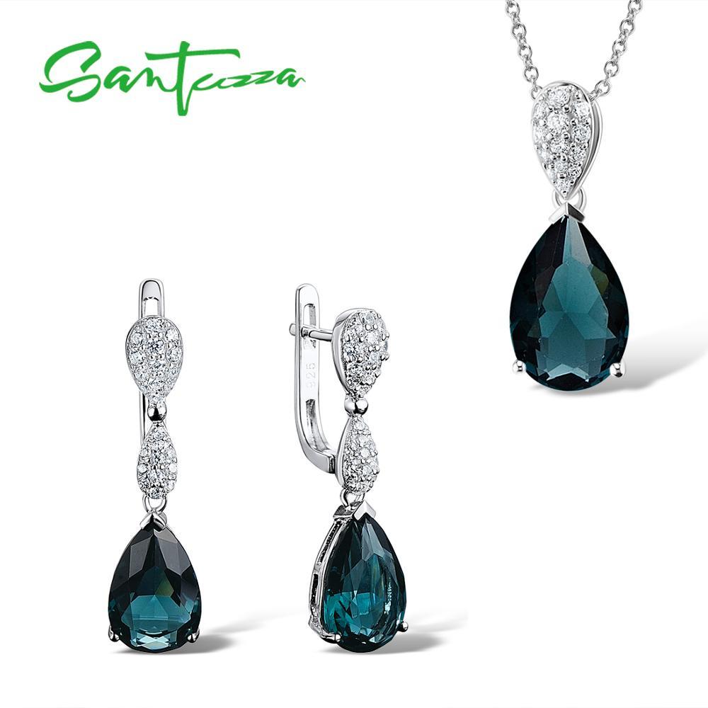 40b95df1e6d3 Conjunto de joyas de plata santuza para mujer 925 Plata de Ley ...