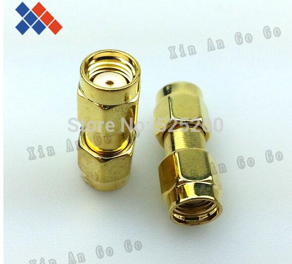 5pcs RP-SMA adapter RP SMA plug male to RP SMA male plug (female pin )straight connector adapter sale 10pcs adapter rp sma female plug to rp sma female connector straight reticulated high quality minijack plug wire connector