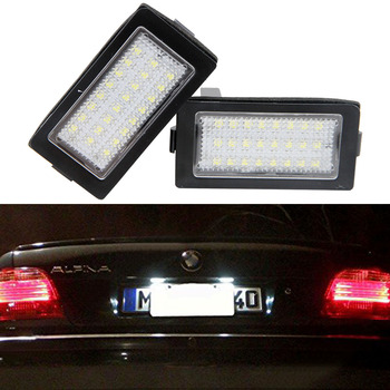 1 PAIR Led License Plate Light Lamp White for BMW E38 740i 740Li 750i 750Li High quality Canbus Error free Led tail Light source image