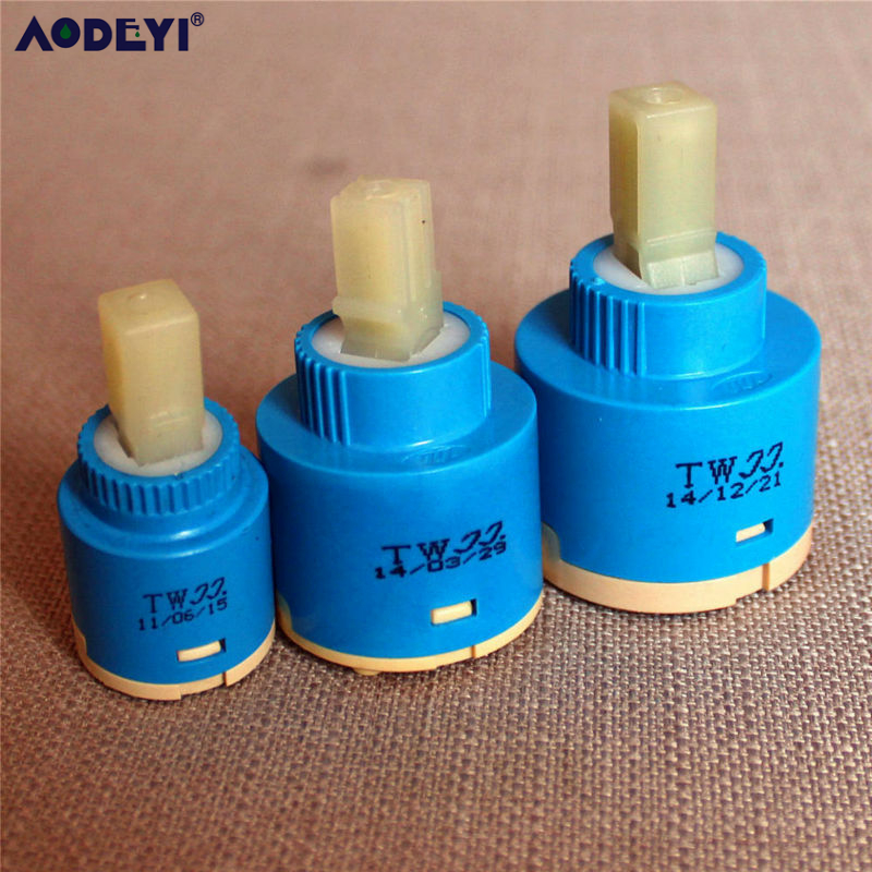 25mm / 35mm / 40mm Ceramic Cartridge Faucet Cartridge Mixer Low Torque Faucet Accessories Spindle Free Rotation Flat Base