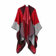 TOLINA Classic medieval style Women Knitted Cashmere Poncho Capes Shawl Cardigans