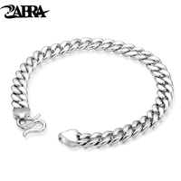 Fine Jewelry 100 925 Sterling Silver Whilte Silver Color Bracelet For Men High Polish Simple Fashion