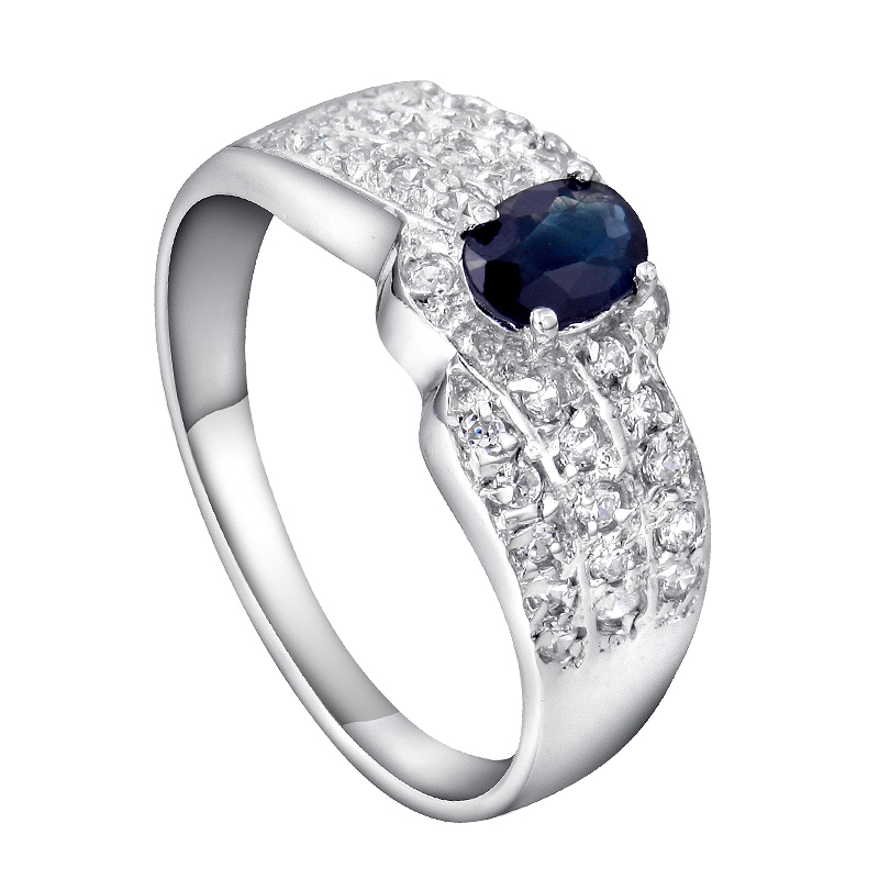Natural Sapphire Night Blue Ring 925 Sterling silver Luxury Woman Fashion Fine Elegant Jewelry Queen Birthstone Gift SR0064S natural pink ruby ring flower in 925 sterling silver fancy sapphire jewelry fashion elegant luxury birthstone gift sr0159r