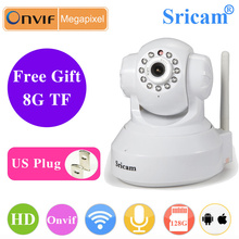 Sricam 8G/16G card SP012 Wireless IP Camera 720P Home Security Surveillance Wireless Camera Onvif Night Vision Wifi CCTV Camera