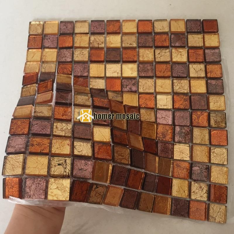 Orange Kitchen Backsplash Tile: Aliexpress.com : Buy Orange Brown Color Glass Mosaic For