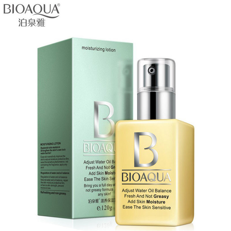 Hot! BIOAQUA Brand Nourishing Moisturizing Cream Face Skin Care Anti-wrinkle Whitening Shrink Pores Oil-control Exfoliator 120ml men skin care cream set 3pcs lot cleanser toner emulsion moisturizing oil control shrink pores anti wrinkle face care