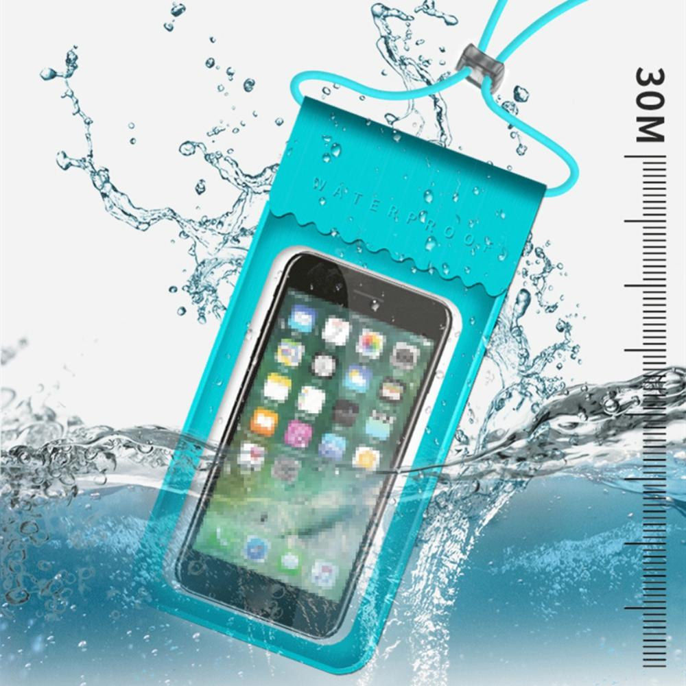 TPU Waterproof Mobile Phone Bag Touch Screen Swimming Bag Phone Case Cellphone Swim Pouch Holder Diving Surfing Water Sports