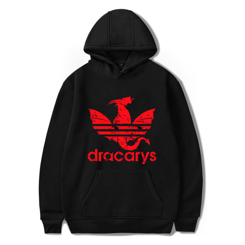 2019 New Dracarys Sweatshirts Men Women Hoodies Hot Game Of Thrones Casual Hooded Harajuku Cosplay Costume Fashion Hoody