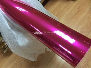 Image 5 - Высокорастягивающаяся розово красная хромированная безвоздушная пузырьковая зеркальная виниловая пленка наклейка лист эмблема чехол для кузова автомобиля велосипеда мотора
