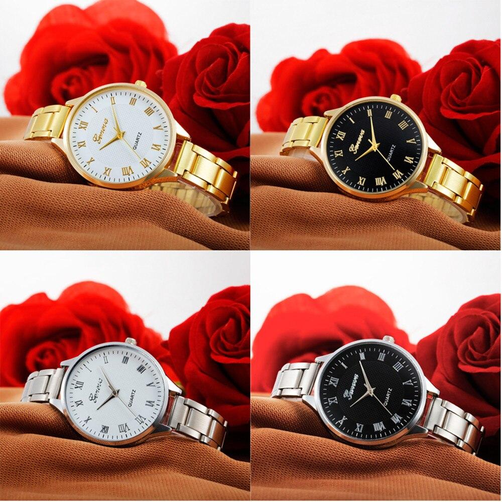 Women watches Relojes Mujer Dress Wristwatch Fashion Women Crystal Stainless Steel Analog Quartz Wrist Watch Bracele D13 fashion women watch gold stainless steel quartz watches crystal women dress watches wristwatch for ladies clock relojes 2016