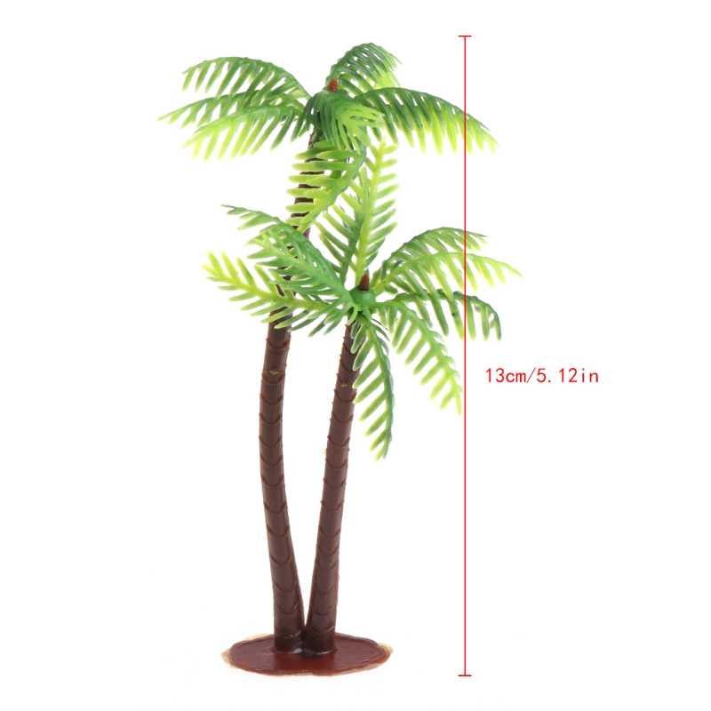 Mini Scenery Landscape Model Simulation Coconut Palms Tree Home Decor Ornaments #20/29L