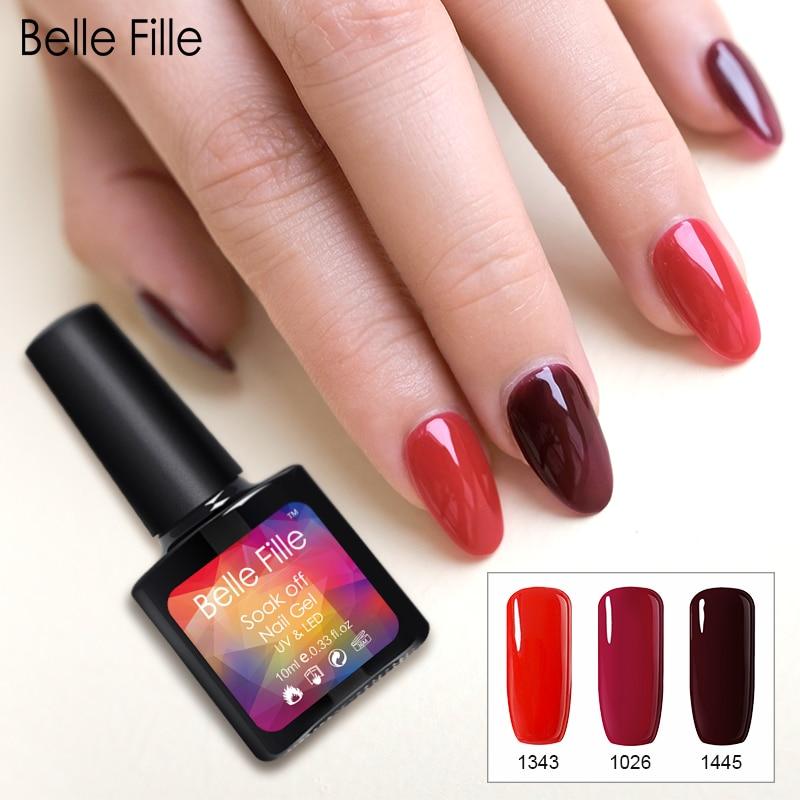 Vampire Nail Polish: Belle Fille Nail Gel Polish Vampire Blood Red Wine Gel