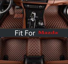 Для женщин салонов автомобилей Коврики для Mazda Mazda6 Atenza Mazda2 Axela Mazda3 Cx-5 авто Интерьер Ковёр