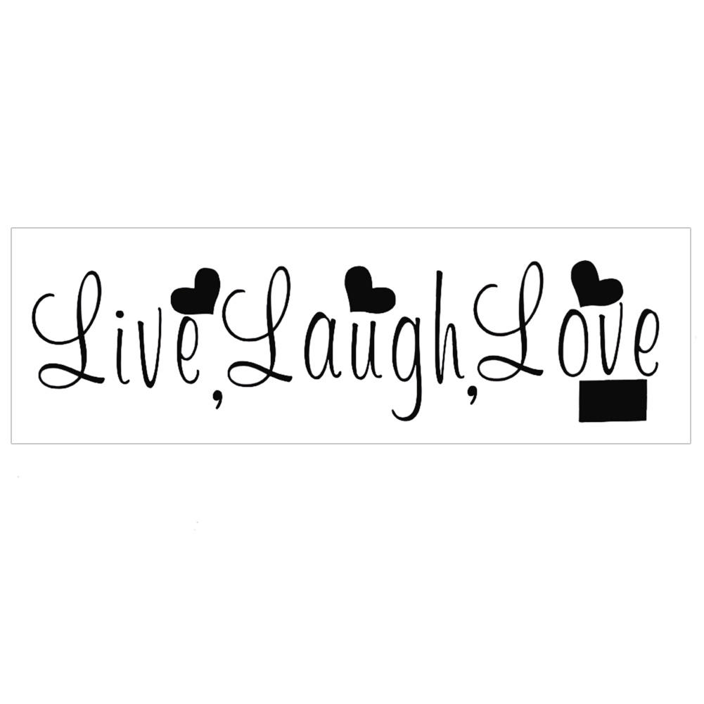 compare prices on live love laugh wall art online shopping buy removable black live laugh love english letter heart home bedroom living room diy art wall sticker