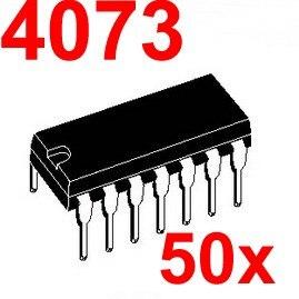 ( 50 pcs/lot ) 4073 CMOS Logic IC, DIP Package.