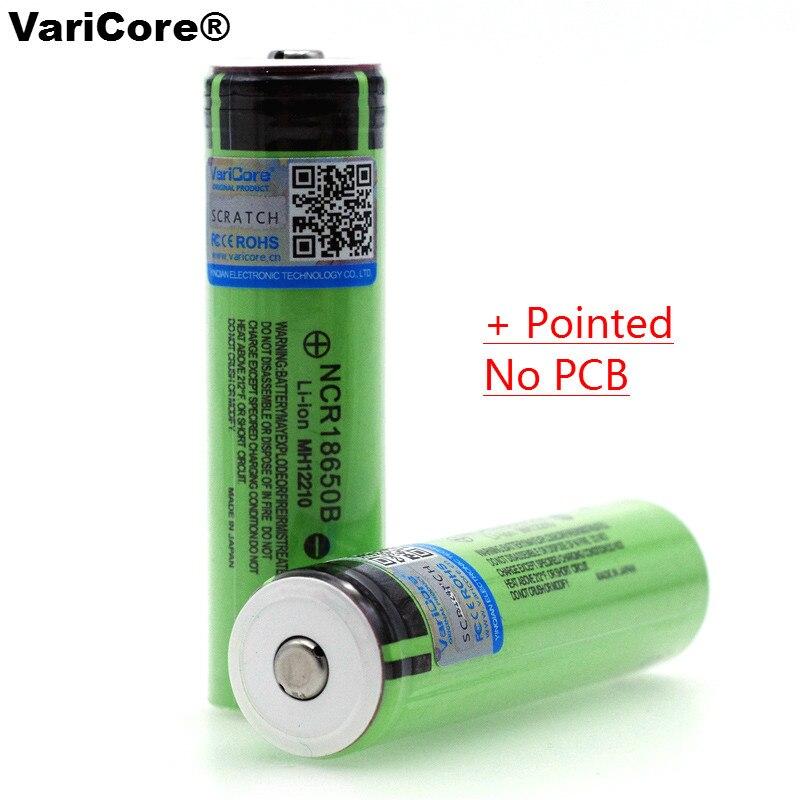 Из 2 предметов VariCore оригинальный <font><b>18650</b></font> NCR18650B <font><b>3400</b></font> мАч 3,7 В литий-ионный Перезаряжаемые Батарея с советами (без платы) для <font><b>batterie</b></font>