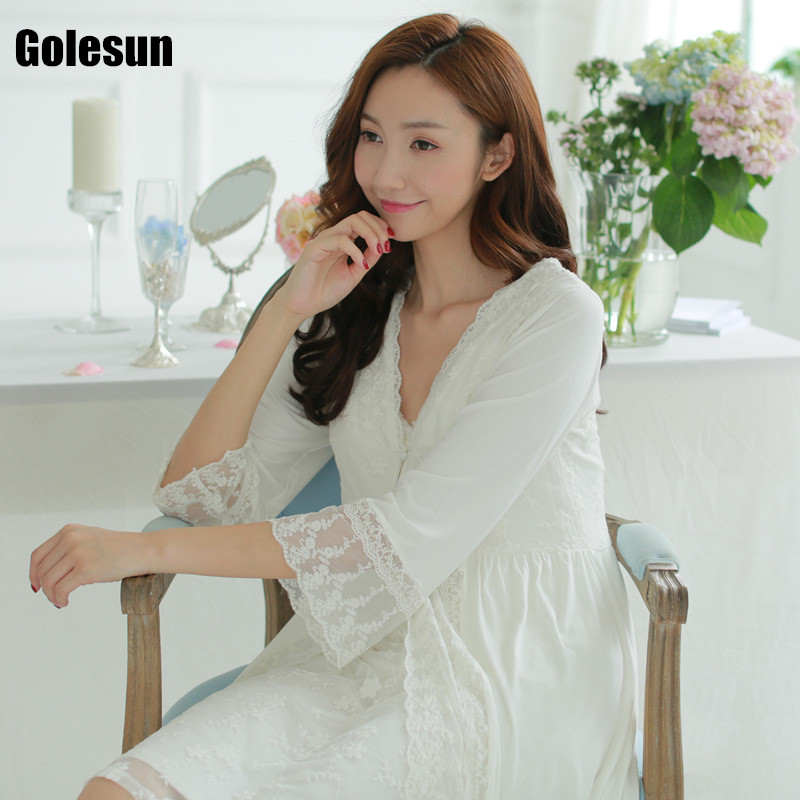 Ms spot sexy nightgown lace two piece modal thin of leisurewear font b suit b font