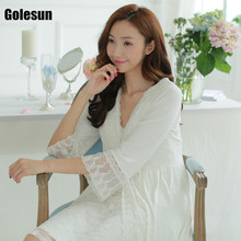 women sexy nightgown lace two piece modal thin of leisurewear suit nightgown new products Women s