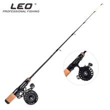 LEO integrated flat body ice fishing rod single section Free Shipping