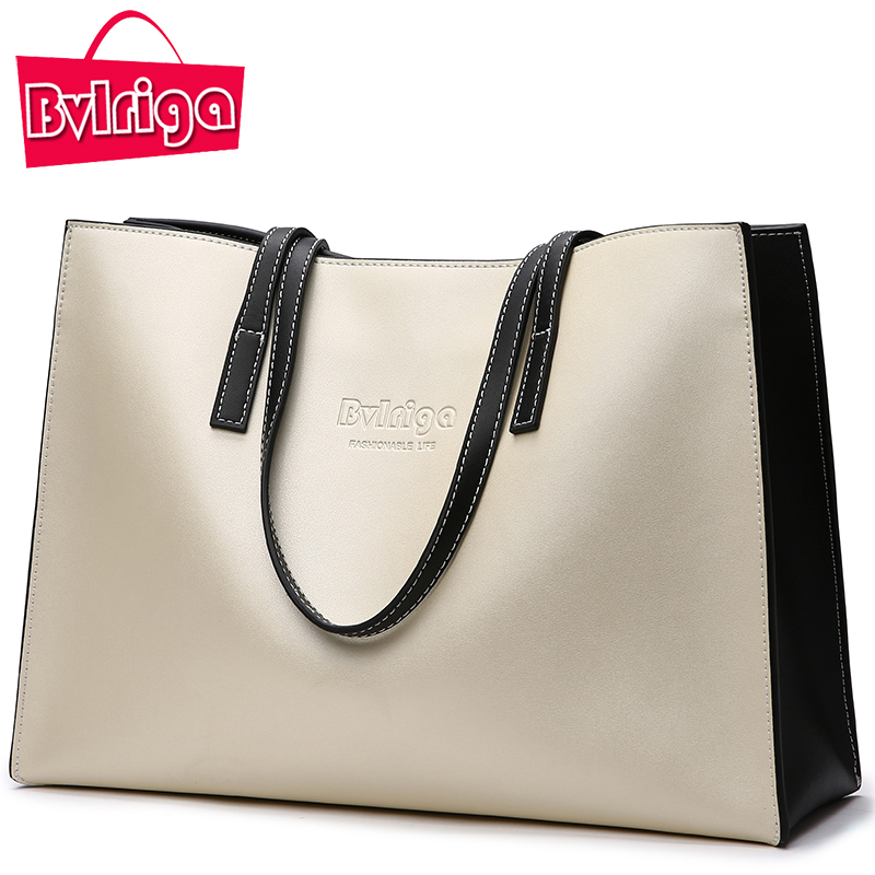 Bvlriga Big Women Shoulder Bag Women Handbag Genuine Letaher Bag Female Patchwork Women Tote Bag Famous