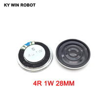 5pcs/lot New Ultra-thin Mini speaker 4 ohms 1 watt 1W 4R Diameter 28MM 2.8CM thickness 5MM