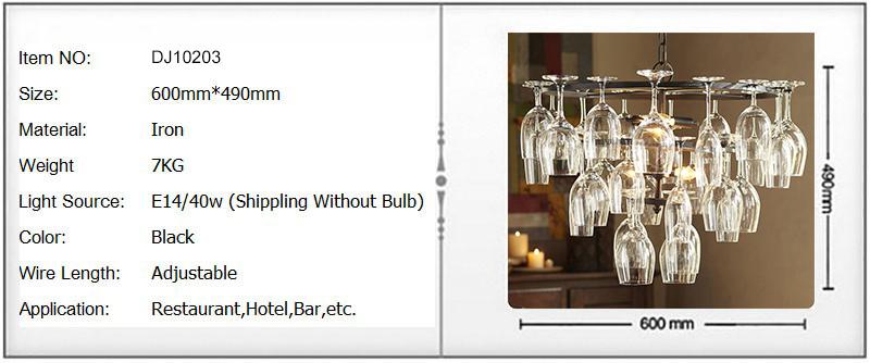 Art Deco Goblet Pendant Light Lamp Retro Red Wine Goblet Pendant lights Hanging Lamp For Hotel Bar Restaurant Glass Lamp Bracket (1)