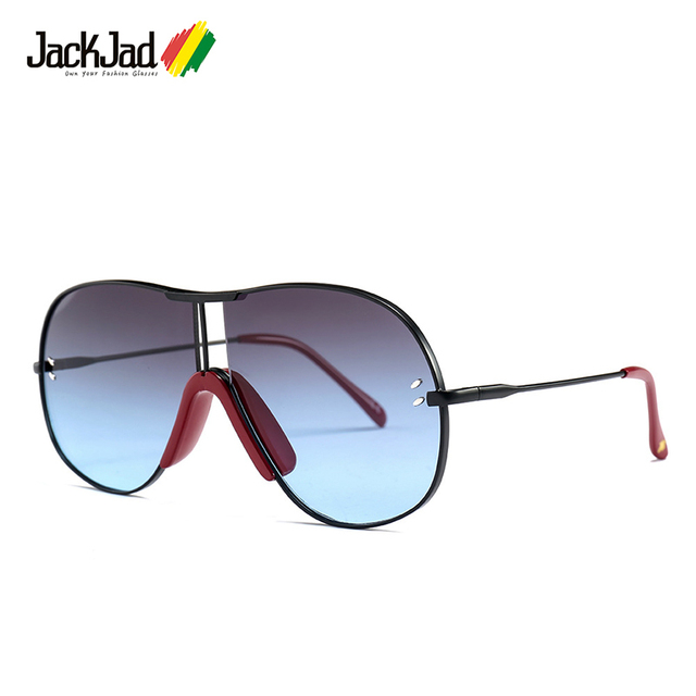 ac1e9cf8b4d JackJad 2018 Vintage Men Aviation Style Gradient Sunglasses UV400 Fashion  Two Dots Brand Design Sun Glasses